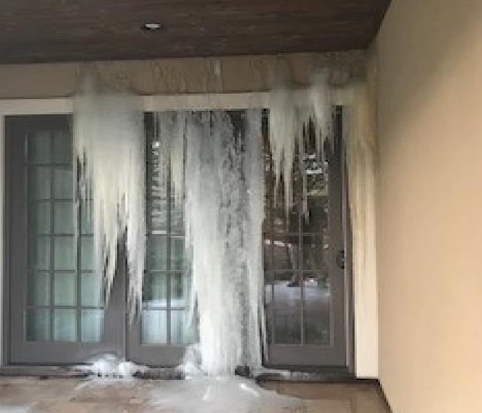 Cascading Ice in a local home